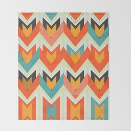 Shapes of joy Throw Blanket