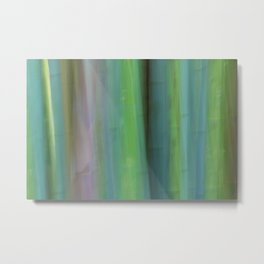 Bamboo Abstract Metal Print