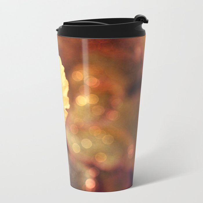 Autumn dahlia Metal Travel Mug
