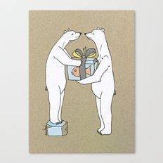 Polar Bear Just For You Canvas Print