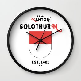 Canton of Solothurn Wall Clock