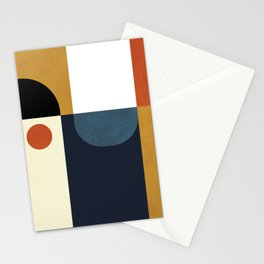 mid century abstract shapes fall winter 4 Stationery Cards