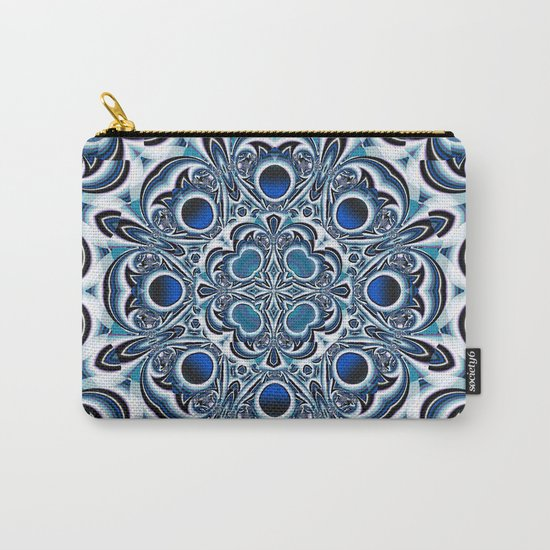 Snowflake fractal pattern Carry-All Pouch