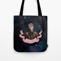 star lord Tote Bags featuring Star-Lord by adelinotte
