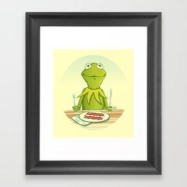 Kermit Loves Facon Framed Art Print