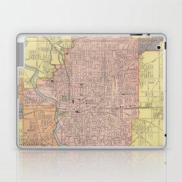 Vintage Map of Indianapolis Indiana (1903) Laptop & iPad Skin