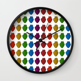 Gay Hearts Wall Clock