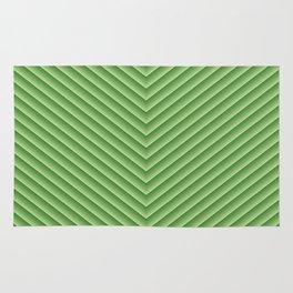 Grassy Green Chevron Rug