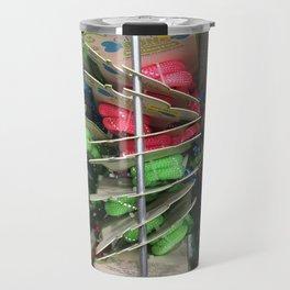 Straps. Fashion Textures Travel Mug