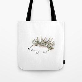 Nail Hedgehog Tote Bag