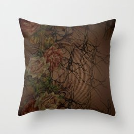 Roses of the Night Throw Pillow
