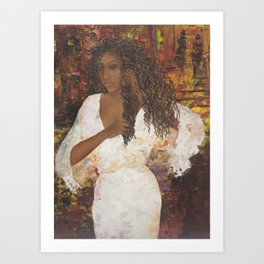 Brazilian Girl in Night Gown Art Print