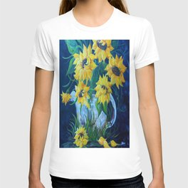 Sunflowers in a Country Pot T-shirt