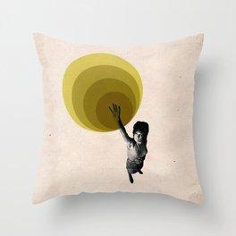 """Radiate"" Graphic Illustration Throw Pillow"