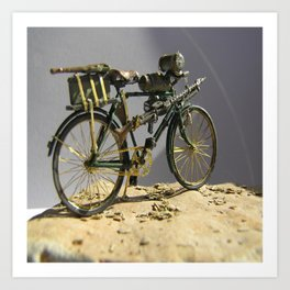 Old bicycle Zvonekmakete Art Print
