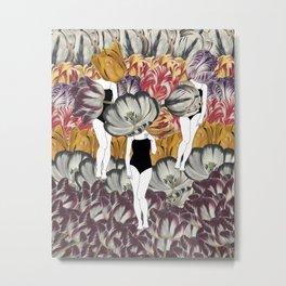 Tulip Girls Metal Print