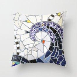 Blue Fandango Mosaic Throw Pillow