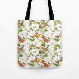 Magnolia/ Birds Tote Bag