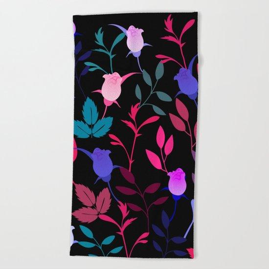Flower Pattern XVI Beach Towel