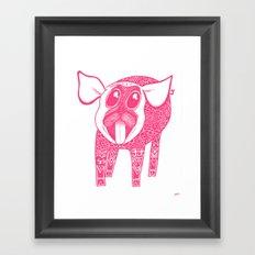 Puggy Bank Framed Art Print