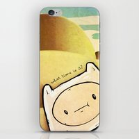 finn iPhone & iPod Skins featuring Finn by Unihorse