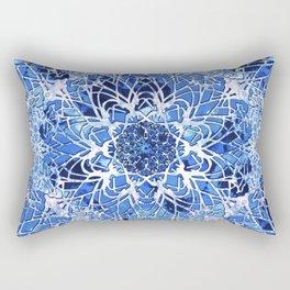 Sapphire Crochet Mandala Rectangular Pillow