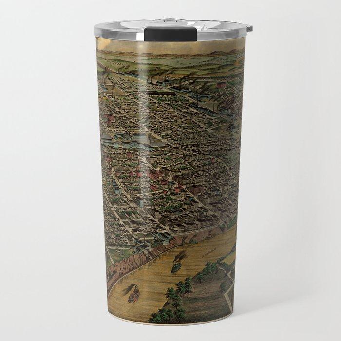 Map Of Nashville 1885 Travel Mug