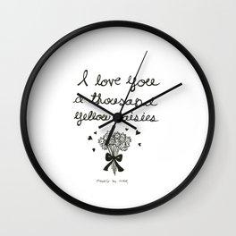 A thousand yellow daisies Wall Clock