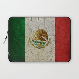 Cracked Mexico flag Laptop Sleeve