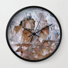 Mammoth Hot Springs Yellowstone Wall Clock