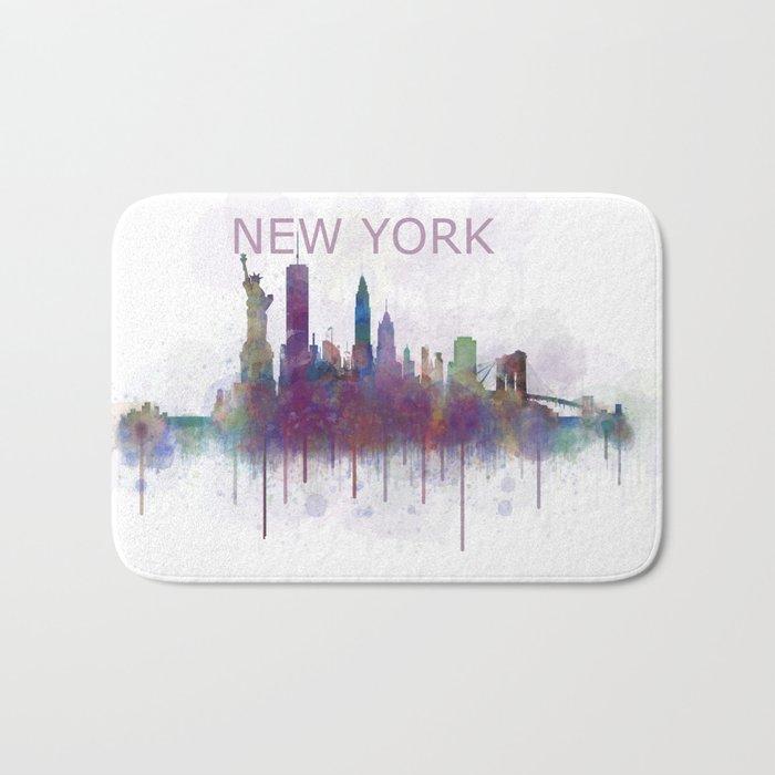 NY New York City Skyline v5 Bath Mat