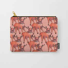 living coral deer Carry-All Pouch