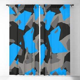 Black\Grey\Blue Geometric Camo Blackout Curtain