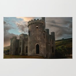 Clifden Castle at the sunset Rug