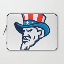 Uncle Sam Wearing USA Top Hat Mascot Laptop Sleeve