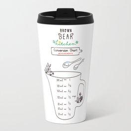 Brown Bear Kitchen Conversion Chart - measurements Travel Mug