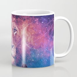 Galaxy Lion Face Coffee Mug