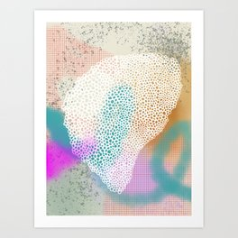 Abstract sketch 3.9 Art Print