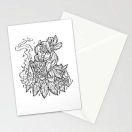 phoenix black Stationery Cards