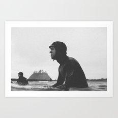 Surfing La Push, Washington USA Art Print