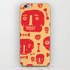 Skulls & Bones - Red/Yellow iPhone & iPod Skin
