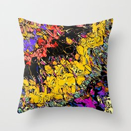Shifting Shapes And Colors Throw Pillow