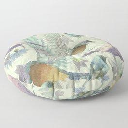 Bluebells and Birds Floor Pillow