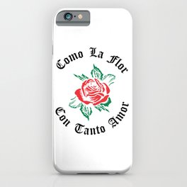 Como La Flor Selena Mexican Spanish Womans Cumbia TexMex Con Tanto Amor Cantante Musica iPhone Case