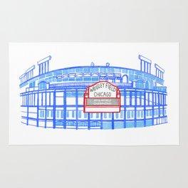 Wrigley Field Watercolor Rug