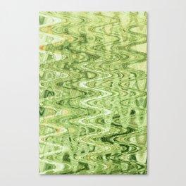 Waves Celadon Canvas Print