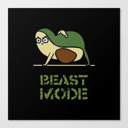 Beast Mode Avocado Canvas Print