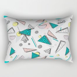 Memphis Pattern #3 Rectangular Pillow