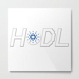 HODL Cardano Metal Print