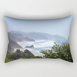 arcadia beach from ecola state park Rectangular Pillow